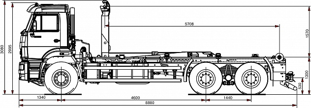 Автомобиль 658667-0030-00 с крюковым погрузчиком