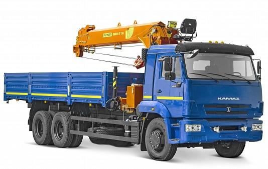Бортовой автомобиль 6586-322-01 с КМУ PALFINGER INMAN IT-150 на шасси КАМАЗ-65117