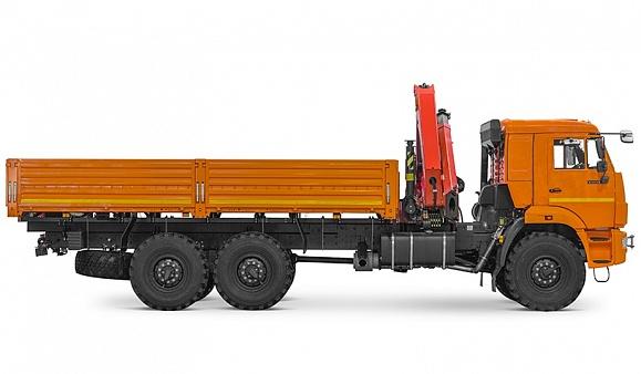 Бортовой автомобиль 65861-002-06 с КМУ PALFINGER PK 23500A на шасси КАМАЗ-43118