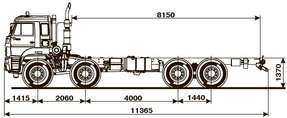 Шасси KАМАZ - 6560-43