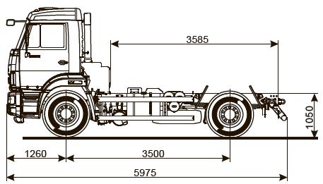 Шасси KАМАZ - 43255-R4